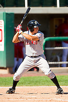 Seth Mejias-Brean (13) of the Billings Mustangs at bat against the Orem Owlz at Brent Brown Ballpark on July 22, 2012 in Orem, Utah.  The Mustangs defeated the Owlz 13-8.  (Brian Westerholt/Four Seam Images)
