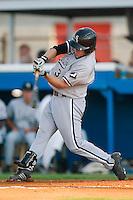 Bristol third baseman Logan Johnson (33) at bat versus Burlington at Burlington Athletic Park in Burlington, NC, Thursday, July 12, 2007.