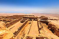 Israel, Galilee, Masada, landscape of the Herod fortress ruins