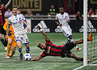 Atlanta Georgia - April 28, 2018: Mercedes-Benz Stadium, Atlanta United vs Montreal Impact. Final score Atlanta 4, Montreal 1.