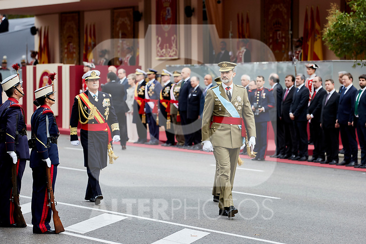 King Felipe VI of Spain attends to Spanish National Day military parade in Madrid, Spain. October 12, 2018. (ALTERPHOTOS/A. Perez Meca)