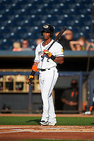 Akron RubberDucks right fielder Luigi Rodriguez (2) at bat during a game against the Richmond Flying Squirrels on July 26, 2016 at Canal Park in Akron, Ohio .  Richmond defeated Akron 10-4.  (Mike Janes/Four Seam Images)