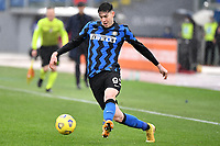 Alessandro Bastoni of FC Internazionale in action during the Serie A football match between AS Roma and FC Internazionale at Olimpico stadium in Roma (Italy), January 10th, 2021. Photo Andrea Staccioli / Insidefoto