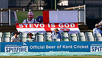 A banner extolling the virtues of Kent's Darren Stevens is seen at the St Lawrence Ground during Kent CCC vs Worcestershire CCC, LV Insurance County Championship Division 3 Cricket at The Spitfire Ground on 7th September 2021