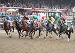 Tizway (no. 5), ridden by Rajiv Maragh and trained by ???James Bond, wins the 84th running of the grade 1 Whitney Invitational Handicap for three year olds and upward on August 6, 2011 at Saratoga Race Track in Saratoga Springs, New York.  (Bob Mayberger/Eclipse Sportswire)