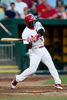 Jermaine Curtis (5) of the Springfield Cardinals at bat during a game against the Tulsa Drillers at Hammons Field on July 19, 2011 in Springfield, Missouri. Tulsa defeated Springfield 17-11. (David Welker / Four Seam Images)