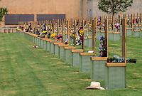 Oklahoma City, Oklahoma, USA.  National Terrorism Memorial Chairs, Anniversary Decoration.
