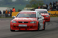 Round 3 of the 2002 British Touring Car Championship. #2 Yvan Muller (FRA). Vauxhall Motorsport. Vauxhall Astra Coupé.