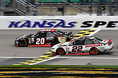 NASCAR XFINITY Series<br /> Kansas Lottery 300<br /> Kansas Speedway, Kansas City, KS USA<br /> Saturday 21 October 2017<br /> Erik Jones, Reser's American Classic Toyota Camry, Ryan Blaney, Discount Tire Ford Mustang<br /> World Copyright: John K Harrelson<br /> LAT Images
