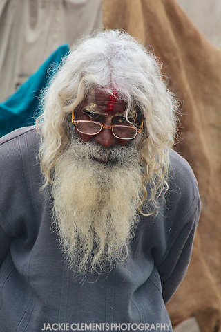 One of the approximately 100 million people who attended the Maha Kumbh Mela, 2013.