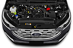 Car Stock 2021 Ford Edge Titanium-FWD 5 Door suv Engine  high angle detail view