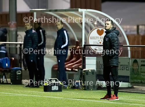 Kelty Hearts v St Johnstone…07.10.20   New Central Park  Betfred Cup<br />Kelty manager Barry Ferguson<br />Picture by Graeme Hart.<br />Copyright Perthshire Picture Agency<br />Tel: 01738 623350  Mobile: 07990 594431