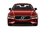 Car photography straight front view of a 2019 Volvo S60 R-Design 4 Door Sedan