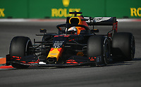 27th September 2020, Sochi, Russia; FIA Formula One Grand Prix of Russia, Race Day;  33 Max Verstappen NLD, Aston Martin Red Bull Racing on his way to 2nd placed finish