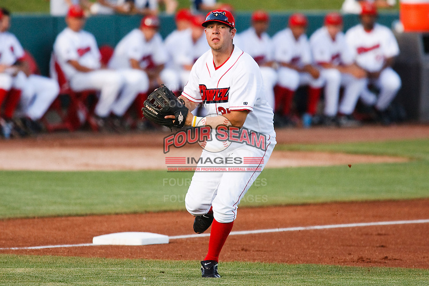 July 10, 2009: Casey Haerther 2009 5th round draft pick (#171) of the Orem Owlz, Rookie Class-A affiliate of the Los Angeles Angels of Anaheim, during a game at the Orem Owlz Ballpark in Orem, UT. Photo by: Matthew Sauk/Four Seam Images