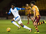 Motherwell v St Johnstone…06.02.18…  Fir Park…  SPFL<br />Matty Willock gets away from Carl McHugh<br />Picture by Graeme Hart. <br />Copyright Perthshire Picture Agency<br />Tel: 01738 623350  Mobile: 07990 594431