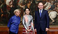 20131028 ROMA-ESTERI: AUNG SAN SUU KYI A PALAZZO CHIGI
