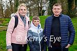 Enjoying a stroll in the Tralee town park on Sunday, l to r: Shauna O'Brien, Rían and Martin Flynn.