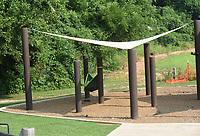 There's room for several hammocks at the Mercy Trailhead hammock station.<br />(NWA Democrat-Gazette/Flip Putthoff)