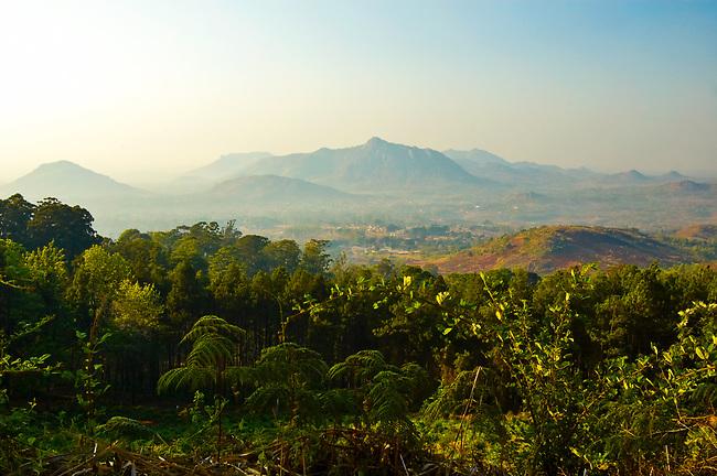 View from Zomba Mountain towards Zomba
