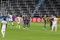 ST PAUL, MN - SEPTEMBER 06: Robin Lod #17 of Minnesota United FC celebrates the 4th goal during a game between Real Salt Lake and Minnesota United FC at Allianz Field on September 06, 2020 in St Paul, Minnesota.