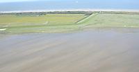 Blick auf Wangerooge nahe dem Flugfeld - Wangerooge 20.07.2020: Flug nach Wangerooge