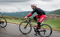 Elia Viviani (ITA/Cofidis) as the very last rider up the Colle Passerino (3km from the finish)<br /> <br /> 104th Giro d'Italia 2021 (2.UWT)<br /> Stage 4 from Piacenza to Sestola (187km)<br /> <br /> ©kramon