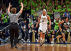 Jan. 26, 2013; Skylar Diggins (4) reacts after a three point basket in the first half against the Providence...Photo by Matt Cashore/University of Notre Dame