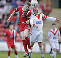 07/05/2008   Copyright Pic: James Stewart.File Name : sct_jspa01_airdrie_v_clyde.PAT CLARKE AND MARC SMYTH CHALLENGE FOR THE BALL.James Stewart Photo Agency 19 Carronlea Drive, Falkirk. FK2 8DN      Vat Reg No. 607 6932 25.Studio      : +44 (0)1324 611191 .Mobile      : +44 (0)7721 416997.E-mail  :  jim@jspa.co.uk.If you require further information then contact Jim Stewart on any of the numbers above........