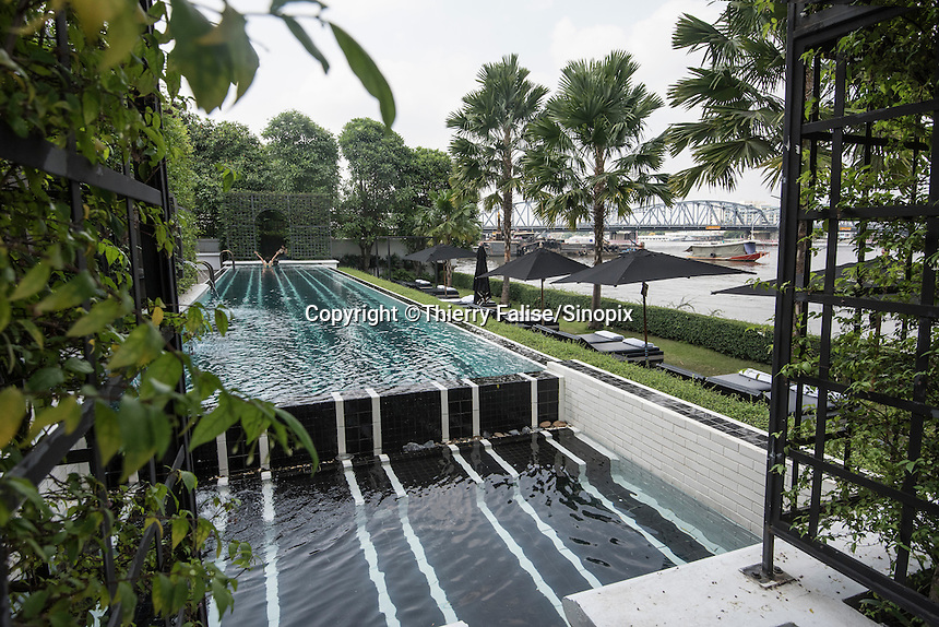 The Siam Hotel, a luxury resort along the Chao Phraya River.
