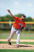 GCL Astros relief pitcher Manuel Gonzalez (70) during a game against the GCL Nationals on August 14, 2016 at the Carl Barger Baseball Complex in Viera, Florida.  GCL Nationals defeated GCL Astros 8-6.  (Mike Janes/Four Seam Images)