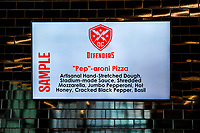 """Washington, DC - Sunday JAN 26, 2020: """"Pep"""" -aroni Pizza will be served at games named in honor of DC Defenders head coach """"Pep"""" Hamilton at the DC Defenders open house at  Audi Field in Washington, DC. (Photo by Phil Peters/Media Images International)"""