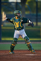 AZL Athletics Green catcher Hansen Lopez (6) during an Arizona League game against the AZL Dodgers Lasorda at Camelback Ranch on June 19, 2019 in Glendale, Arizona. AZL Dodgers Lasorda defeated AZL Athletics Green 9-5. (Zachary Lucy/Four Seam Images)