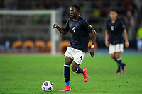 ORLANDO, FL - JULY 20: Keysher Fuller #4 of Costa Rica dribbles the ball during a game between Costa Rica and Jamaica at Exploria Stadium on July 20, 2021 in Orlando, Florida.