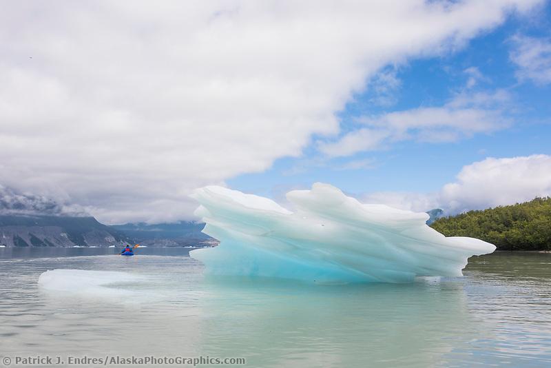 Grand Plateau lake and glacier, Glacier Bay National Park, Southeast, Alaska