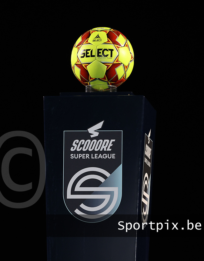 Match ball pictured before a female soccer game between Oud Heverlee Leuven and Standard Femina De Liege on the 10th matchday of the 2020 - 2021 season of Belgian Womens Super League , sunday 20 th of December 2020  in Heverlee , Belgium . PHOTO SPORTPIX.BE | SPP | SEVIL OKTEM