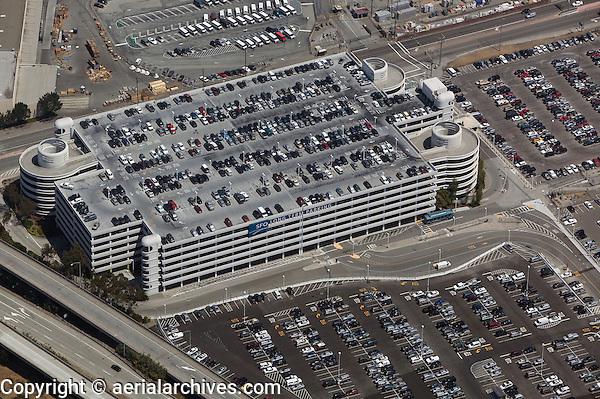 aerial photograph long term parking garage San Francisco International airport SFO