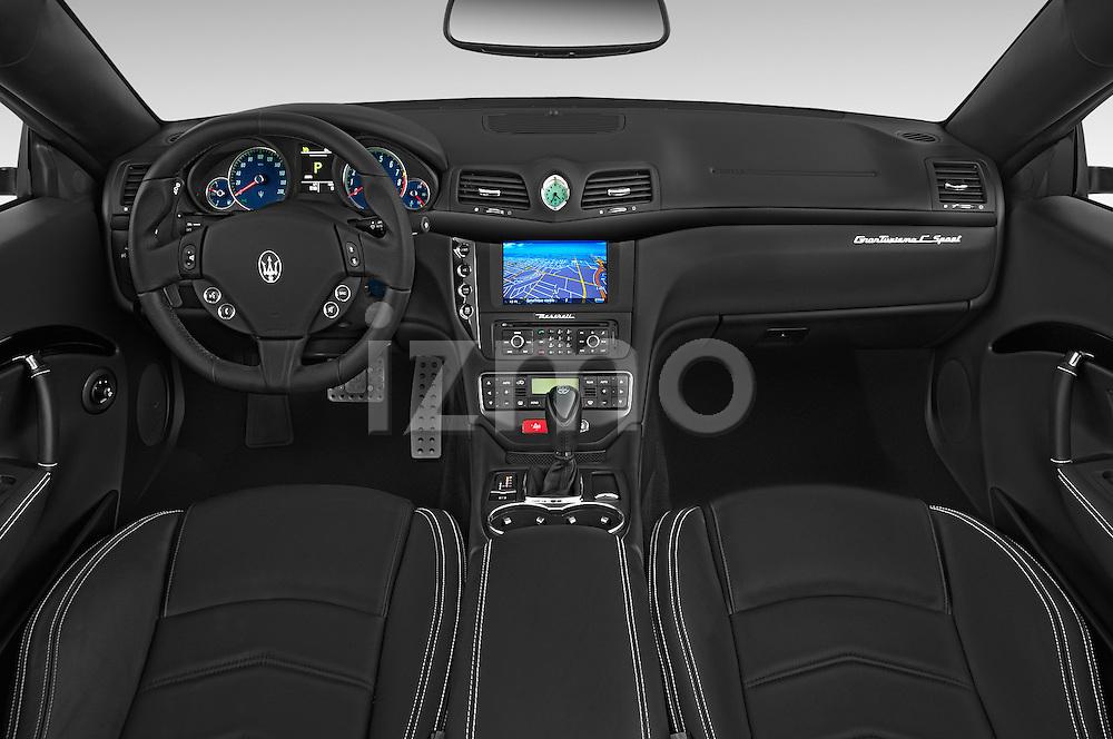 Stock photo of straight dashboard view of a 2017 Maserati GranTurismo Convertible Sport Door convertible Dashboard