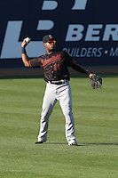 Burt Reynolds (23) of the Bakersfield Blaze during a game against the Rancho Cucamonga Quakes at LoanMart Field on June 1, 2015 in Rancho Cucamonga, California. Rancho Cucamonga defeated Bakersfield, 5-2. (Larry Goren/Four Seam Images)