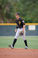 Pittsburgh Pirates Brett Pope (75) during a Minor League Spring Training Intrasquad game on March 31, 2018 at Pirate City in Bradenton, Florida.  (Mike Janes/Four Seam Images)