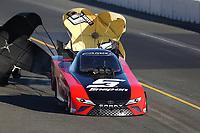 Jul 29, 2017; Sonoma, CA, USA; NHRA funny car driver Cruz Pedregon during qualifying for the Sonoma Nationals at Sonoma Raceway. Mandatory Credit: Mark J. Rebilas-USA TODAY Sports