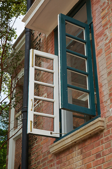 Woodside, first floor window.
