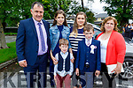 Tadgh Lynch with his family at his first holy communion in the Church of the Immaculate Conception, Rathass on Saturday. Front: Cian and Tadgh Lynch.<br /> Back l to r: Anthony, Emma, Ciara and Margaret Lynch.