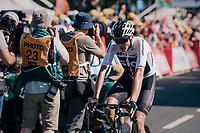 Chris Froome (GBR/SKY) finishing up the Mûr de Bretagne<br /> <br /> Stage 6: Brest > Mûr de Bretagne / Guerlédan (181km)<br /> <br /> 105th Tour de France 2018<br /> ©kramon