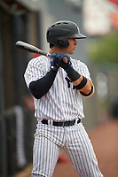 GCL Yankees East Miguel Torres (31) on deck during a Gulf Coast League game against the GCL Phillies East on July 31, 2019 at Yankees Minor League Complex in Tampa, Florida.  GCL Phillies East defeated the GCL Yankees East 4-3 in the second game of a doubleheader.  (Mike Janes/Four Seam Images)
