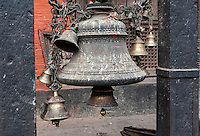 Nepal, Patan.  Temple Bells, Kumbeshwar Temple.  Damaged in April 2015 earthquake, but not destroyed.