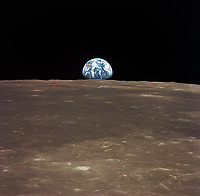 Earthrise from Apollo. july 19, 1969