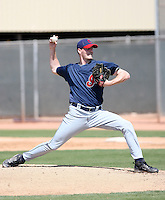 Marty Popham, Cleveland Indians 2010 minor league spring training..Photo by:  Bill Mitchell/Four Seam Images.