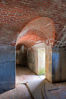 Interior passageway of Fort Knox, in Prospect, Maine.  The fort was built to protect the entrance to the Penobscot river.