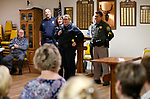 Holiday with a Hero representatives speak to the Carson City Elks Lodge No. 2177 in Carson City, Nev., on Tuesday, Nov. 27, 2018. The Elks hosted a fall tea event and obtained a national grant to donate a total of $4,000 to the program.<br />Photo by Cathleen Allison/Nevada Momentum
